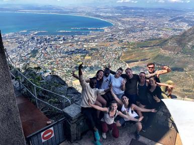 Uitzicht vanaf de Tafelberg