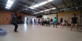 Afro dance class in the township