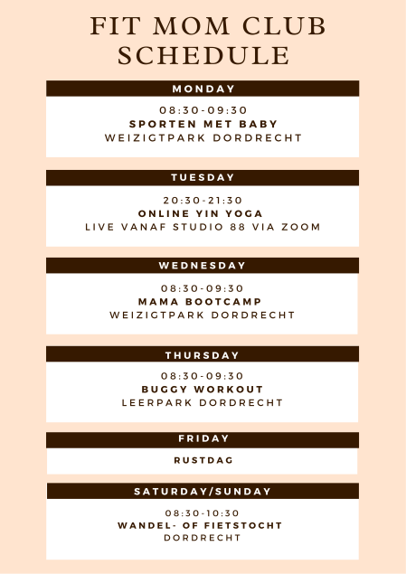 FIT MOM CLUB rooster